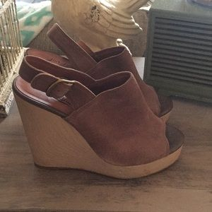 Lucky Brand suede wedge